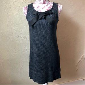 Xhileration Herringbone Dress XL Black Grey Silver
